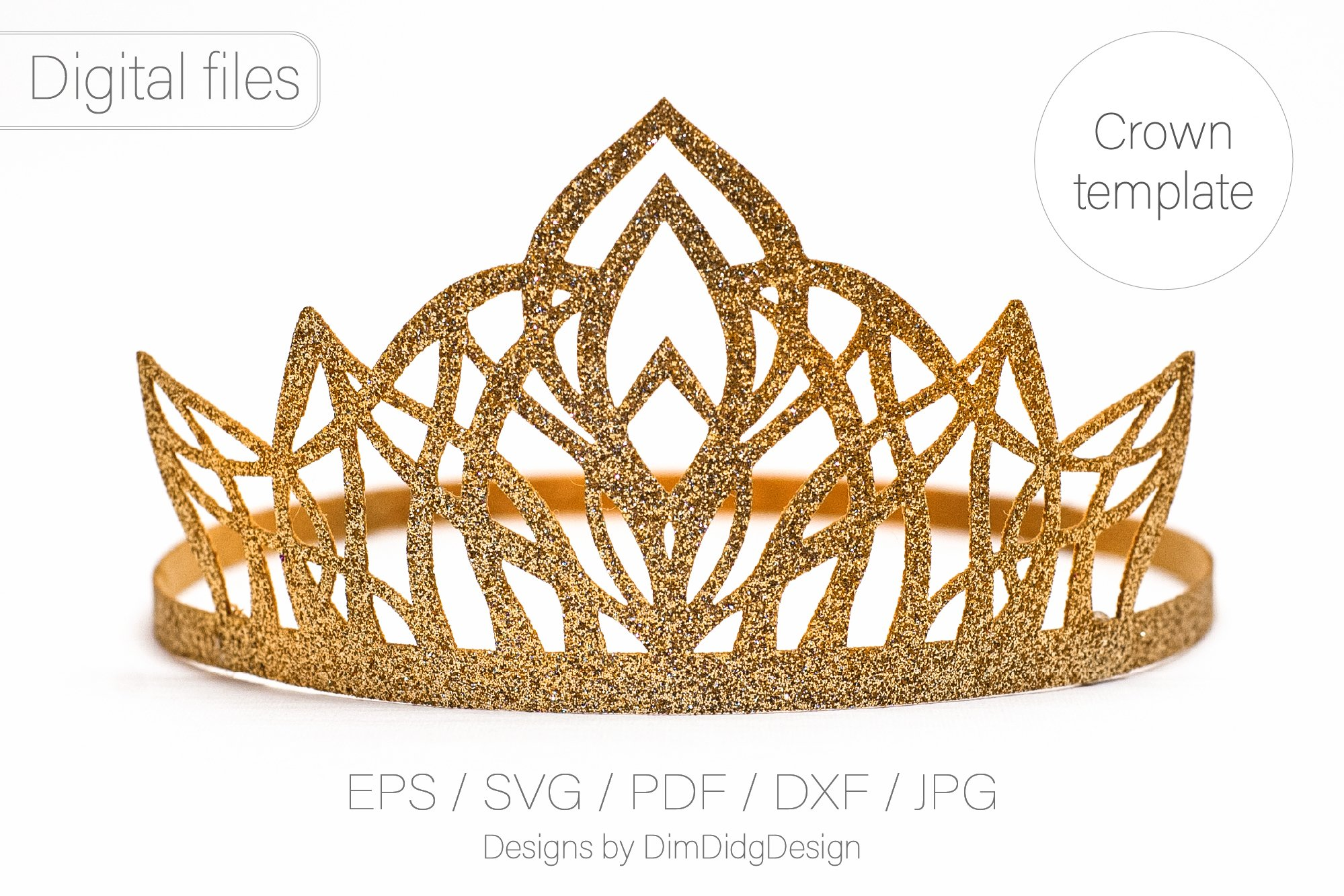 Princess Crown Svg Birthday Party Crown Princess Tiara 1378091 Paper Cutting Design Bundles