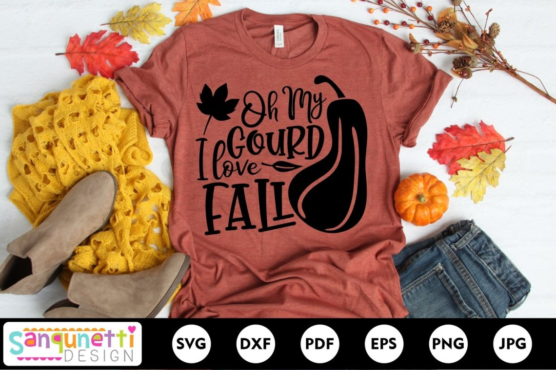 Download Oh My Gourd I love fall SVG, Fall Autumn Harvest cut file ...