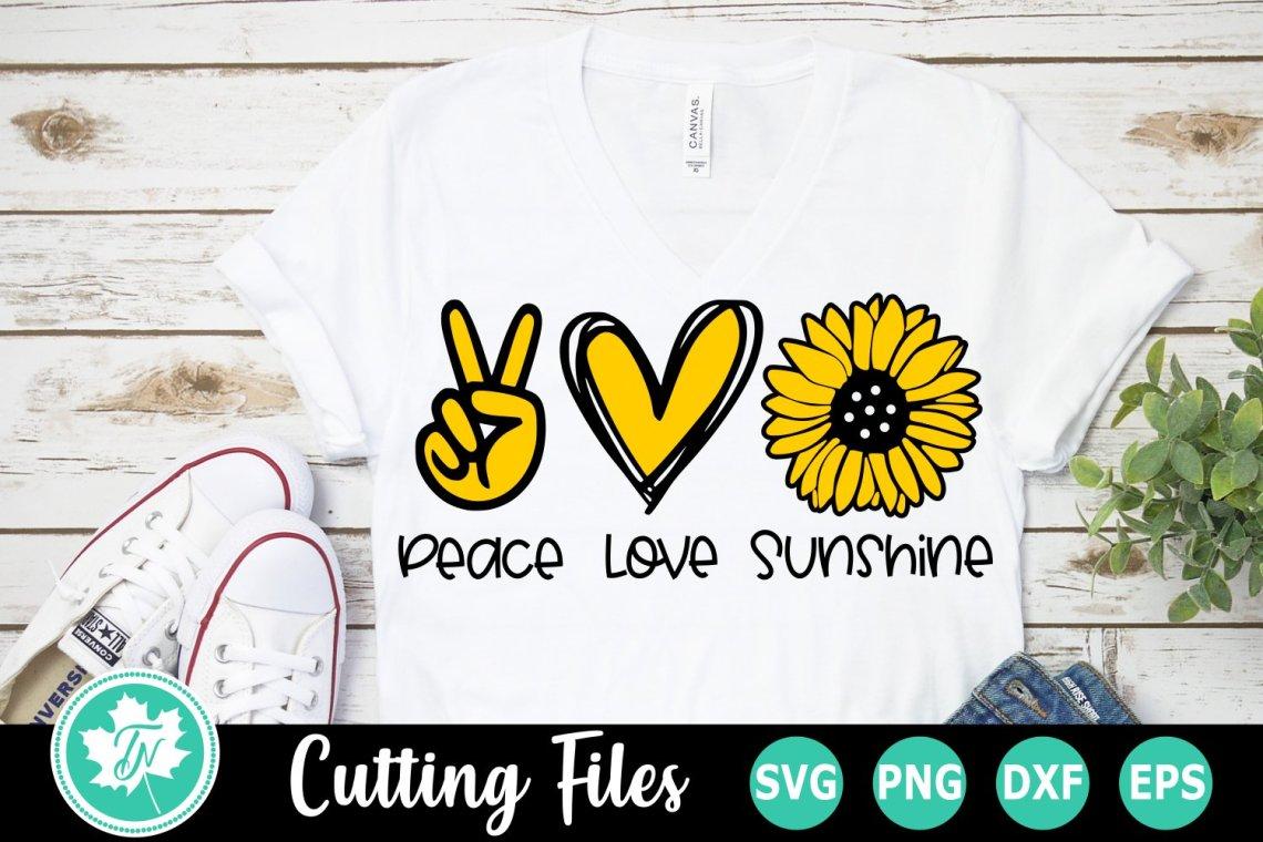 Download Peace Love Sunshine - A Summer SVG Cut File (557587)   Cut ...