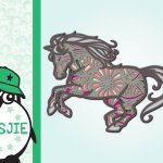 Multi Layer Mandala Horse Horseshoe 3d Svg 697667 Cut Files Design Bundles