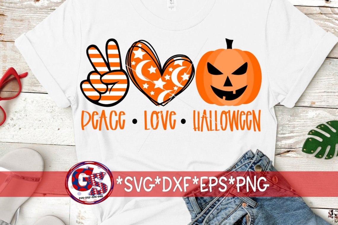 Download Peace Love Halloween SVG DXF EPS PNG | Halloween SVG ...