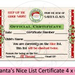 Santa S Nice List Certificate 4 X 6 Inches 355564 Printables Design Bundles