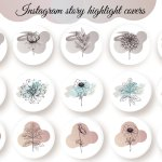Pastel Color Flower Instagram Highlight Icons Aesthetic 1034761 Instagram Design Bundles