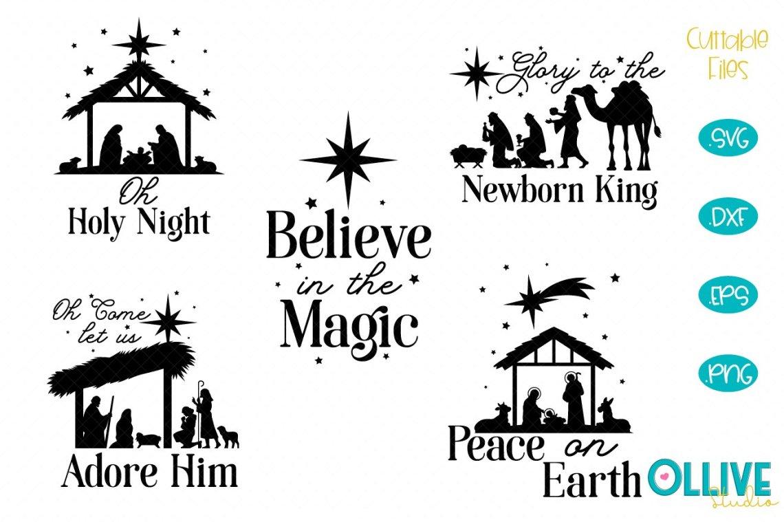 Download Christmas Nativity SVG Bundle (678020) | Cut Files ...