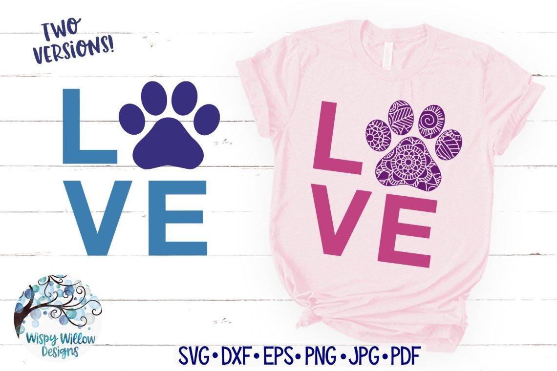 Download Love Paw Print SVG  Paw Print Mandala SVG (849559)   SVGs ...