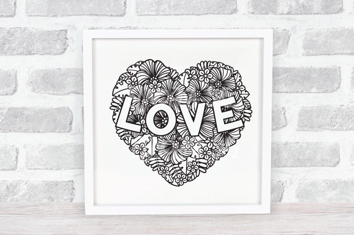 Download Heart SVG | Zentangle Floral Heart | Flower SVG | Love SVG ...