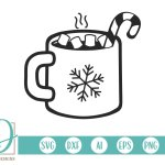 Christmas Hot Chocolate Hot Cocoa Mug Svg 384251 Cut Files Design Bundles