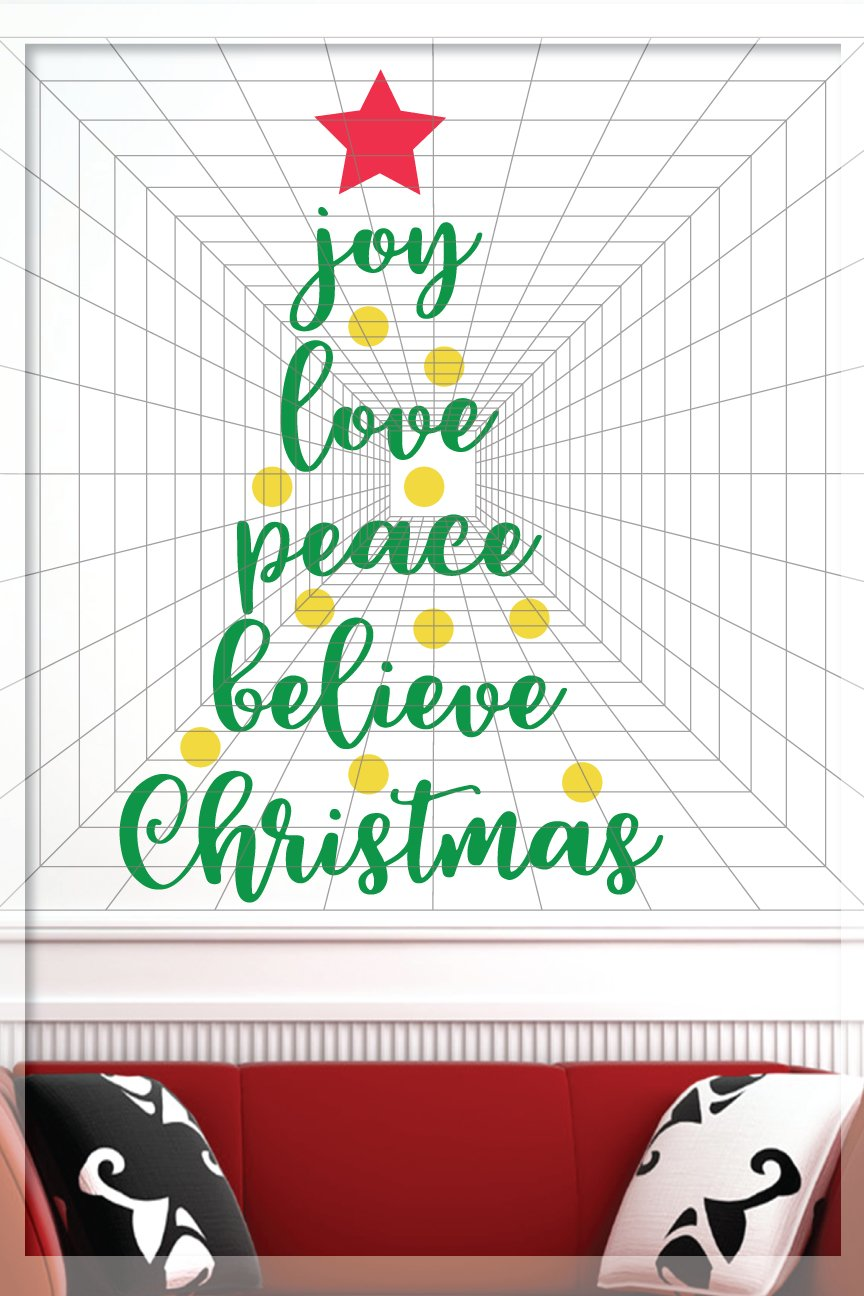 Download Joy Love Peace Believe Christmas SVG - Xmas tree Svg ...