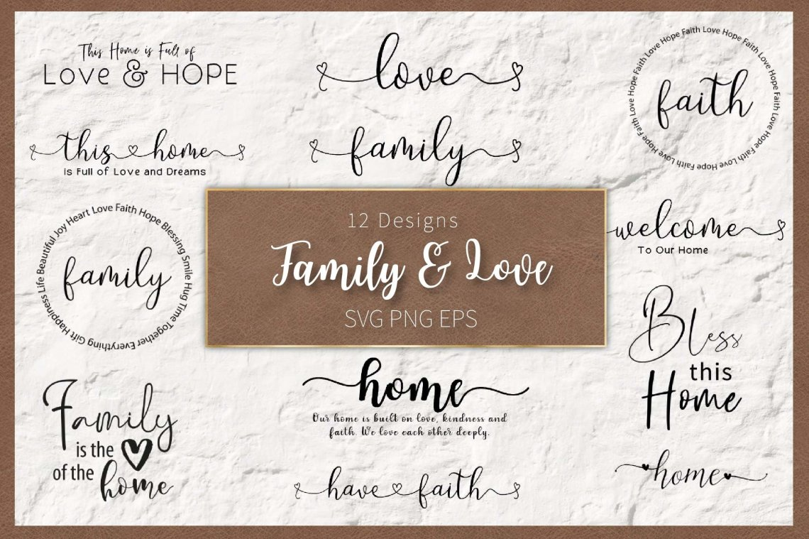 Download Family and Love in SVG EPS PNG (572635)   SVGs   Design ...