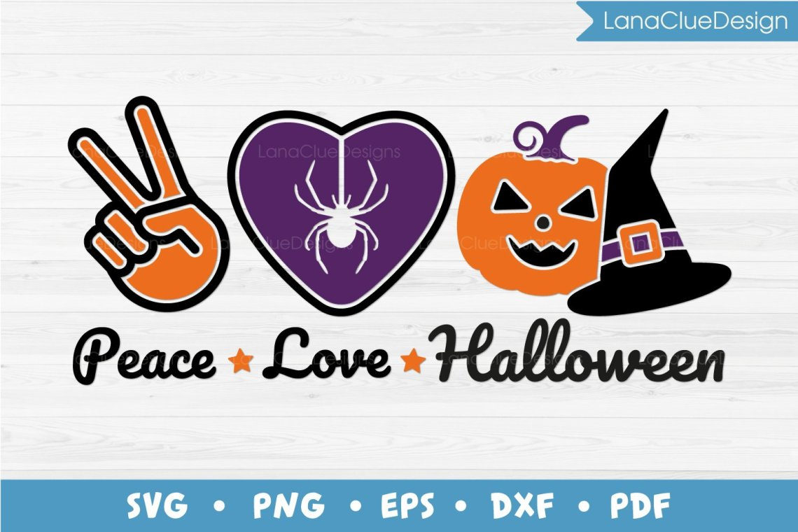 Download Peace Love Halloween SVG Cut File (911702) | Cut Files ...
