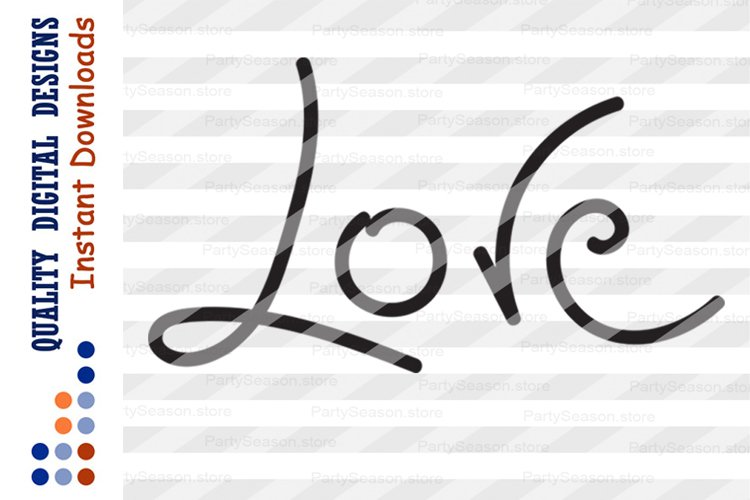 Download Love Svg files Love sign Cursive Dxf Clipart Commercial ...