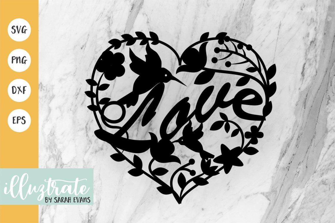 Download Love Heart SVG Cut File | Wedding SVG Design (89241 ...