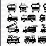 Fire Truck Svg Png Dxf Digital Files Include 758184 Cut Files Design Bundles