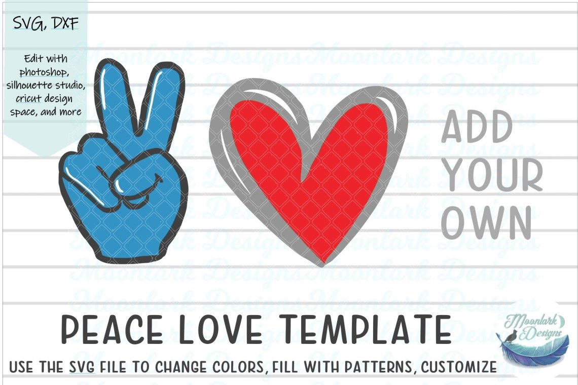 Download Peace Love - Make your own |Cut file SVG DXF blank ...
