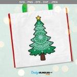 Christmas Tree Mandala Svg Printable