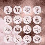 Marble Rose Gold Instagram Highlights Story Cover Icons 760227 Instagram Design Bundles