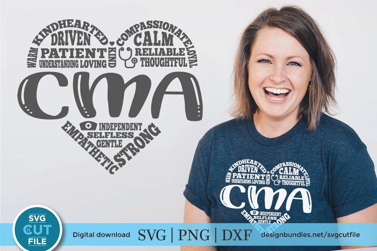 Certified Medical Assistant Svg Cma Heart Svg For
