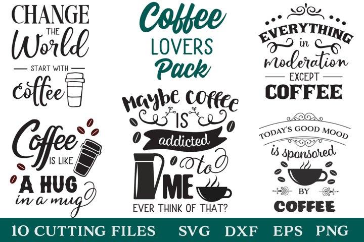 Download Coffee Lovers SVG Pack (790936)   Cut Files   Design Bundles