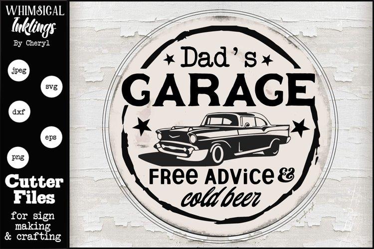 Download Dads Garage-Round SVG (556169)   Cut Files   Design Bundles