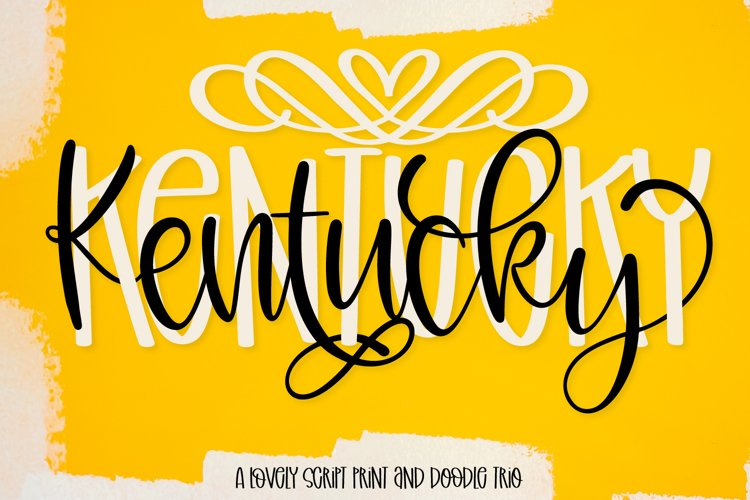 Kentucky - A Script Print & Doodle Font Trio