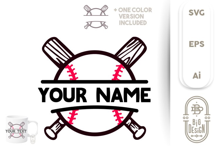 Download Baseball Bat Love Svg - Layered SVG Cut File - Download ...