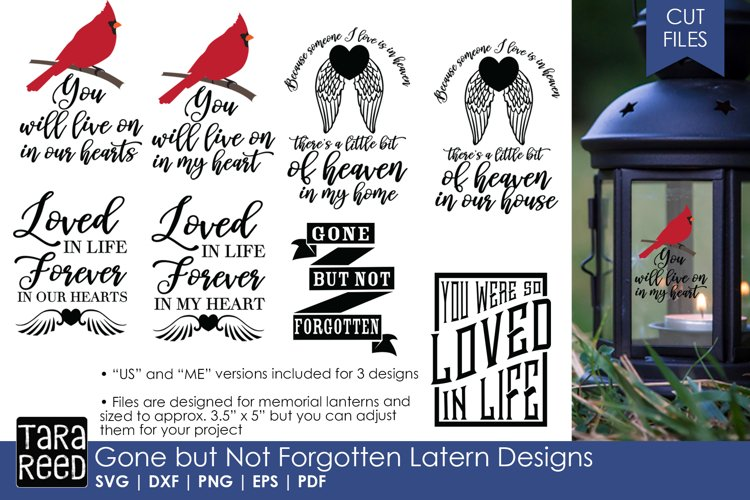 Download Gone but not Forgotten Lantern Designs - SVG and Cut Files ...