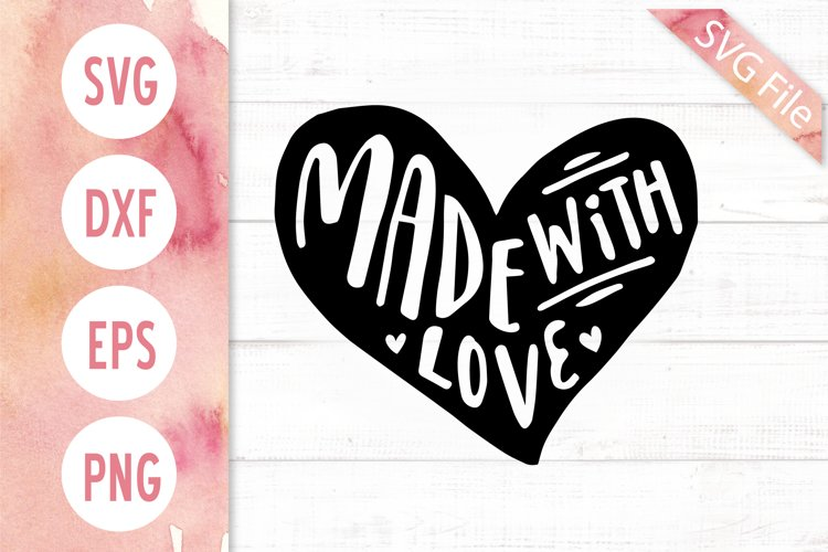 Download Made With Love SVG DXF PNG EPS JPG Rubber Stamp Vector SVG ...