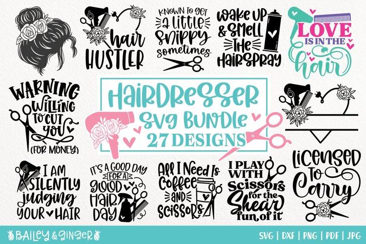 hair dresser svg bundle