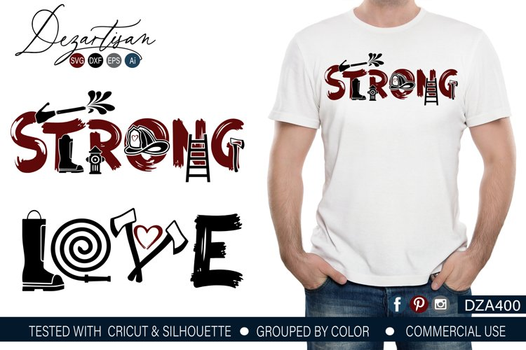 Download Fireman Strong Love SVG   DXF File (211670)   Cut Files ...