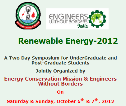 Renewable Energy 2012 - Tech Fest in Hyderabad on Ocotober 6-7, 2012