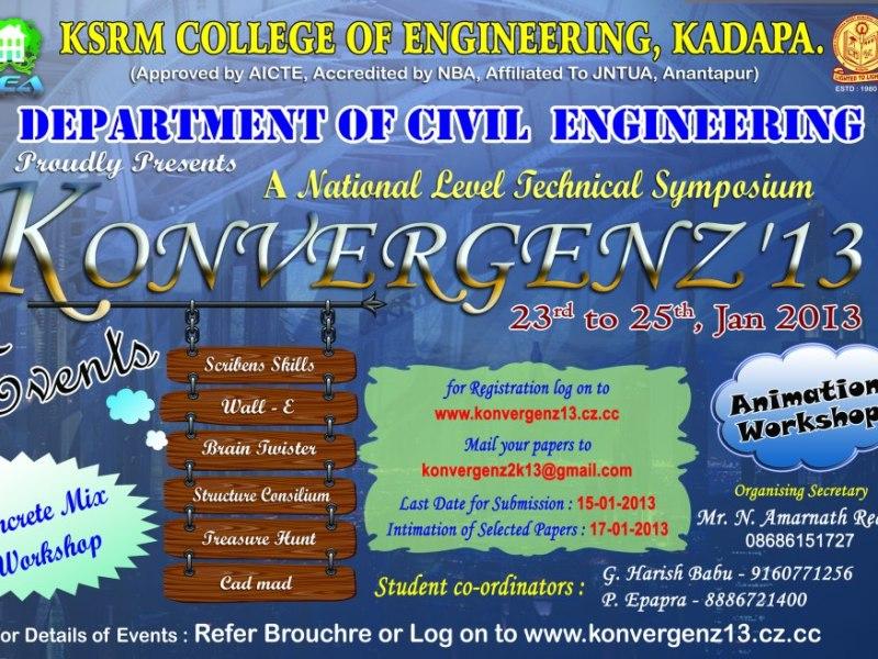 Konvergenz13 - Technical Festival in Kadapa, Andhra Pradesh from January 23-27, 2013