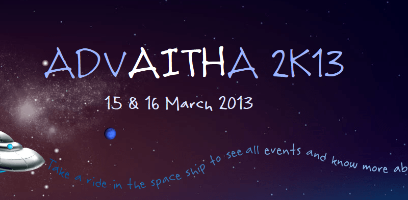 Advaitha 2k13 - Techno Cultural Fest at AITS in Hyderabad from March 15-16, 2013