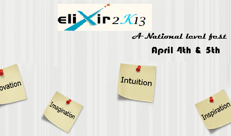 ELIXIR 2K13 - Technical Festival for ECE Students in Hyderabad from April 4-5, 2013