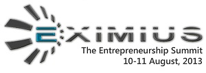 Eximius 2013 - The Entrepreneurs Summit in Bangalore from August 10-11, 2013