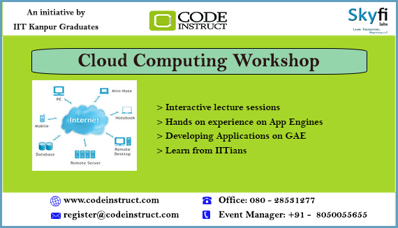 Cloud Computing Workshop in Bangalore from February 1-2, 2014