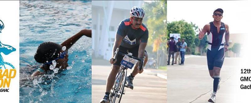 Hyderabad Triathlon at Gachibowli on October 12, 2014