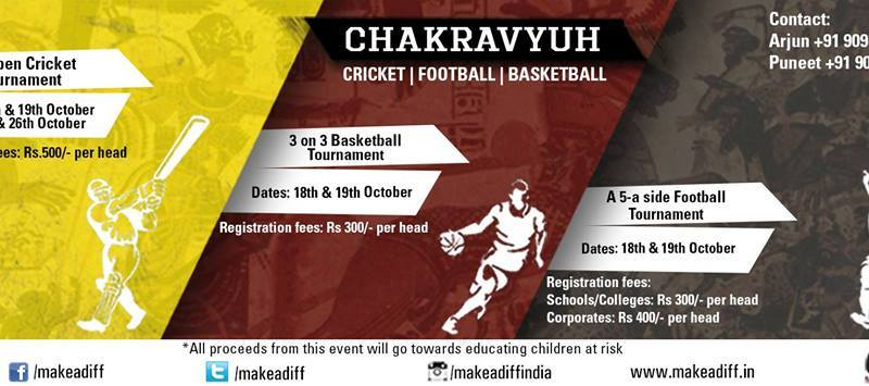Chakravyuh - Sports Tournament in Chennai from October 18-26, 2014