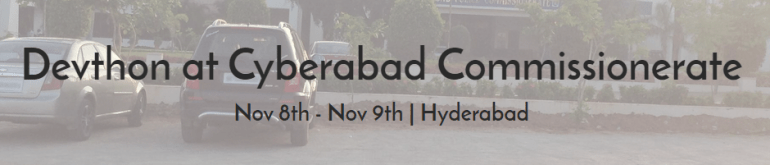 Devthon at Cyberabad Commissionerate from November 8-9, 2014