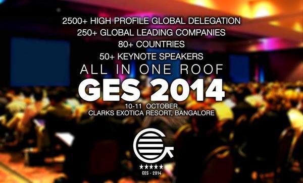 Global Entrepreneurship Summit 2014 in Bangalore from October 10-11, 2014