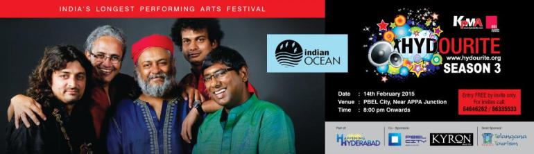 Indian Ocean Live in Concert in Hyderabad on February 14, 2015