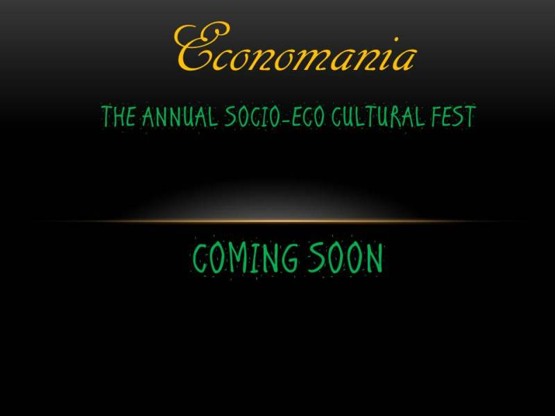 Economania'15 - Annual Socio-Eco Cultural Fest in Rajasthan from April 7-9, 2015