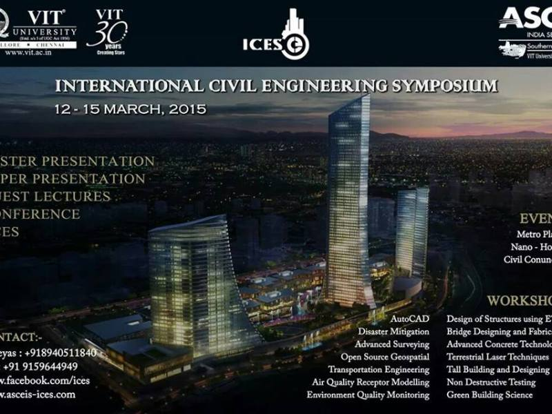 ICES 2015 - International Symposium for Civil Engineers from March 12-15, 2015