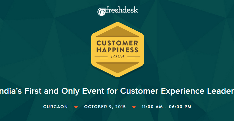 Customer Happiness Tour in Gurgaon on October 9, 2015