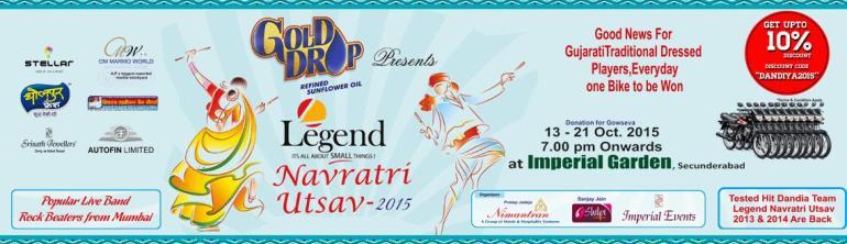 Legend Navratri Utsav 2015 in Hyderabad from October 13-21, 2015