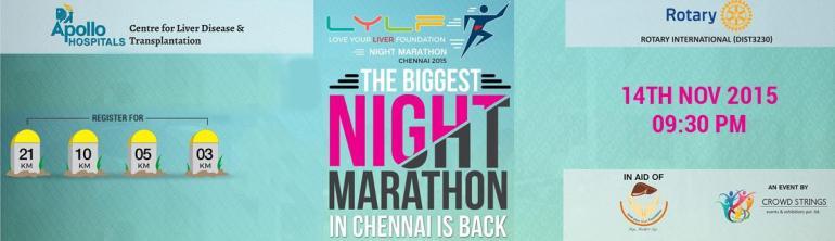 LYLF Night Marathon 2015 in Chennai on November 14, 2015