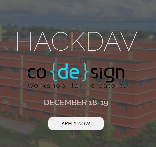 HackDAV - First High School Level Hackathon in Odisha from December 18-19, 2015