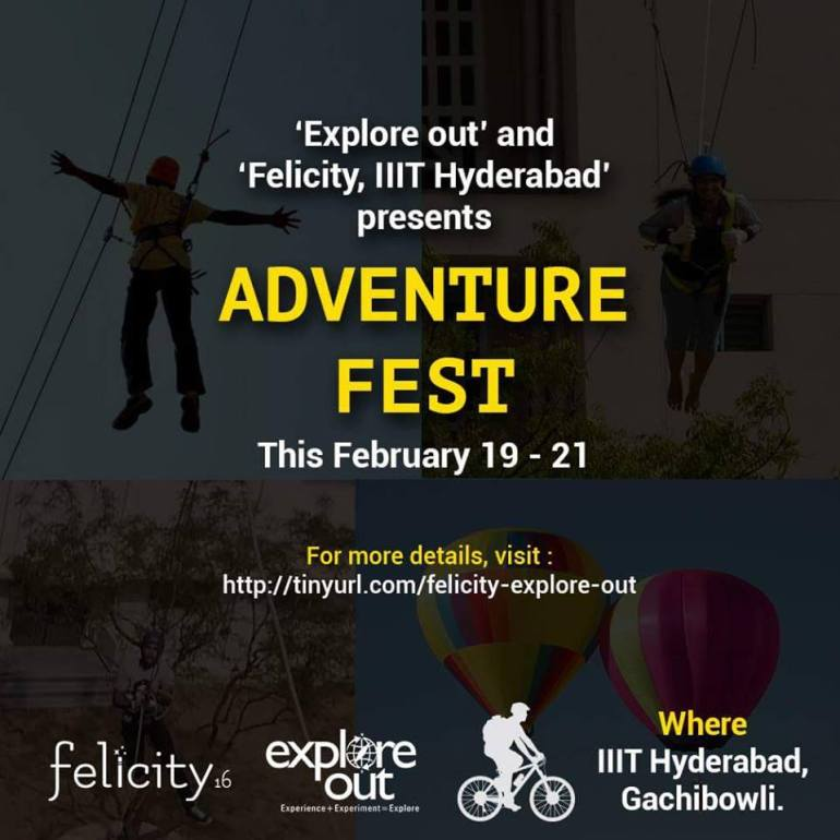 Adventure Fest in IIIT Hyderabad from February 19-21, 2016
