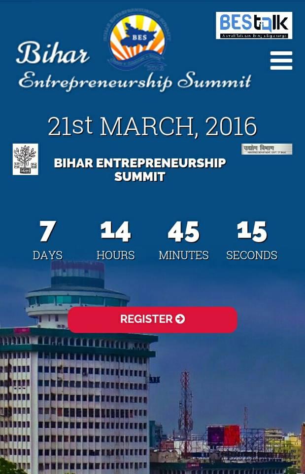 Bihar Entrepreneurship Summit 2016 on March 21, 2016