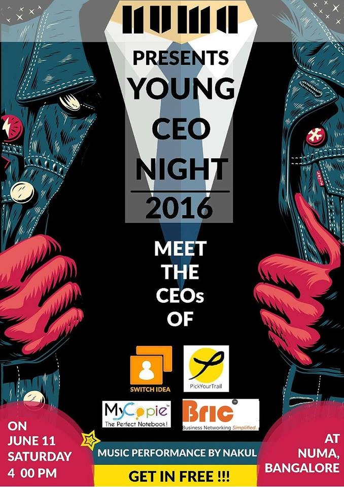 Young CEO Night in Bangalore on June 11, 2016