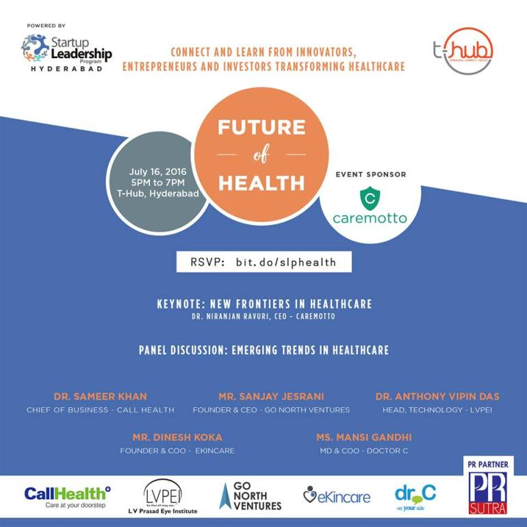 Future of Health Meetup in Hyderabad on July 16, 2016